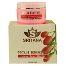 Крем для лица с ягодами годжи и коллагеном Sritana goji collagen cream 50 ml.-252 гр. брутто