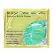 Коллагеновая маска для лица с алоэ вера Collagen Crystal Facial Mask Aloe (green) 60 gr.- 110 гр. брутто